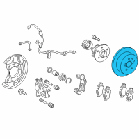 Scion Brake Disc - 42431-21020 and Related Parts