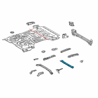 Toyota Land Cruiser Rear Crossmember - 57606-60231 and Related Parts