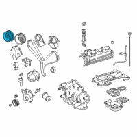 Toyota Land Cruiser Cam Gear - 13523-50040 and Related Parts