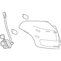 Toyota 81550-0R061 Lamp Assembly, Rear Combination