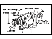 Toyota Throttle Body - 22030-22020