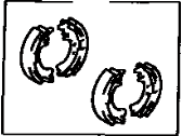 Toyota Camry Parking Brake Shoe - 04495-32021