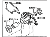 Toyota Corolla Water Pump - 16110-19135