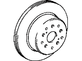 Toyota Supra Brake Disc - 42431-30140