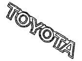 Toyota 75441-17080-D0 Plate, Luggage Compartment Door